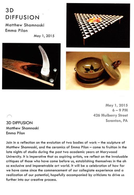 3D Diffusion  with Matthew Shamnoski & Emma Pilon