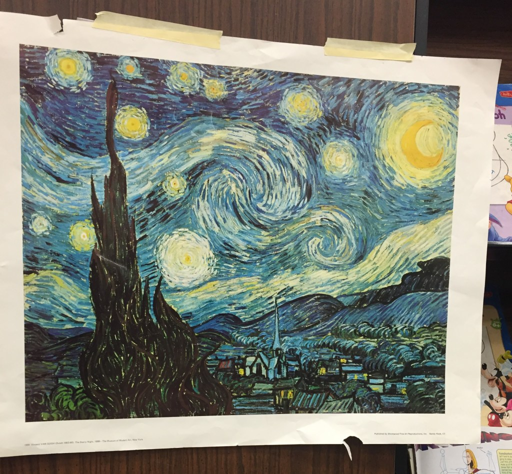 Van Gogh's The Starry Night Poster in the Classroom
