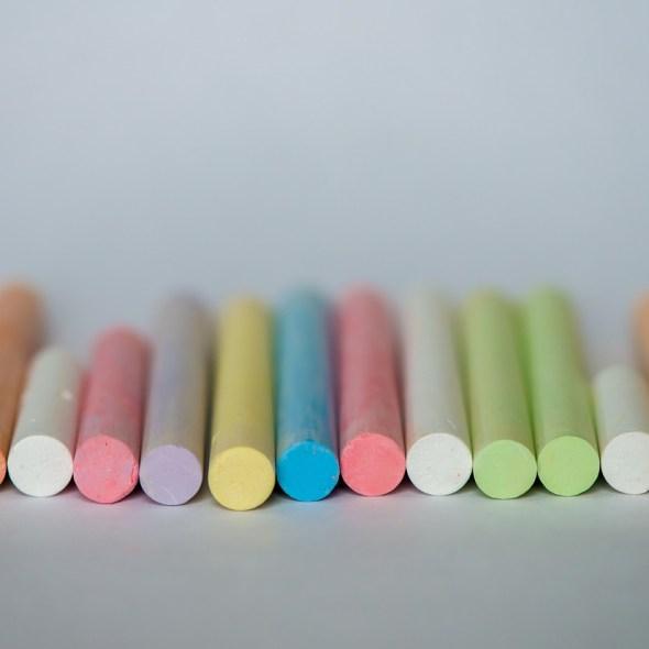 colored sidewalk chalk