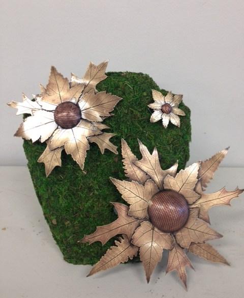 metal sunflowers