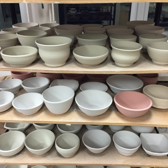 glazed ceramic bowls