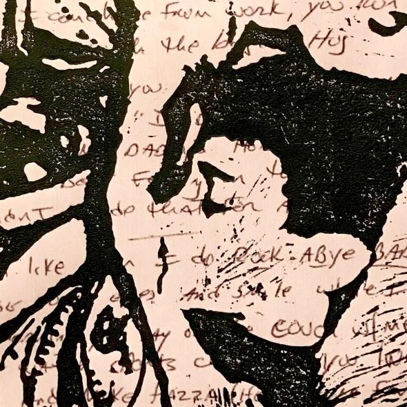 ink, print, script
