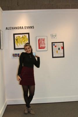 wall of Alexandra Evans' art