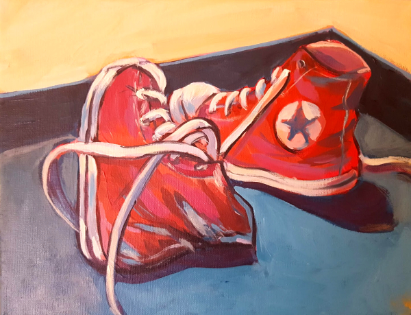 Finished Painting of sneakers