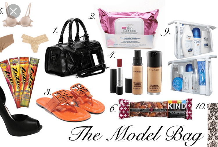 Models bag essentials