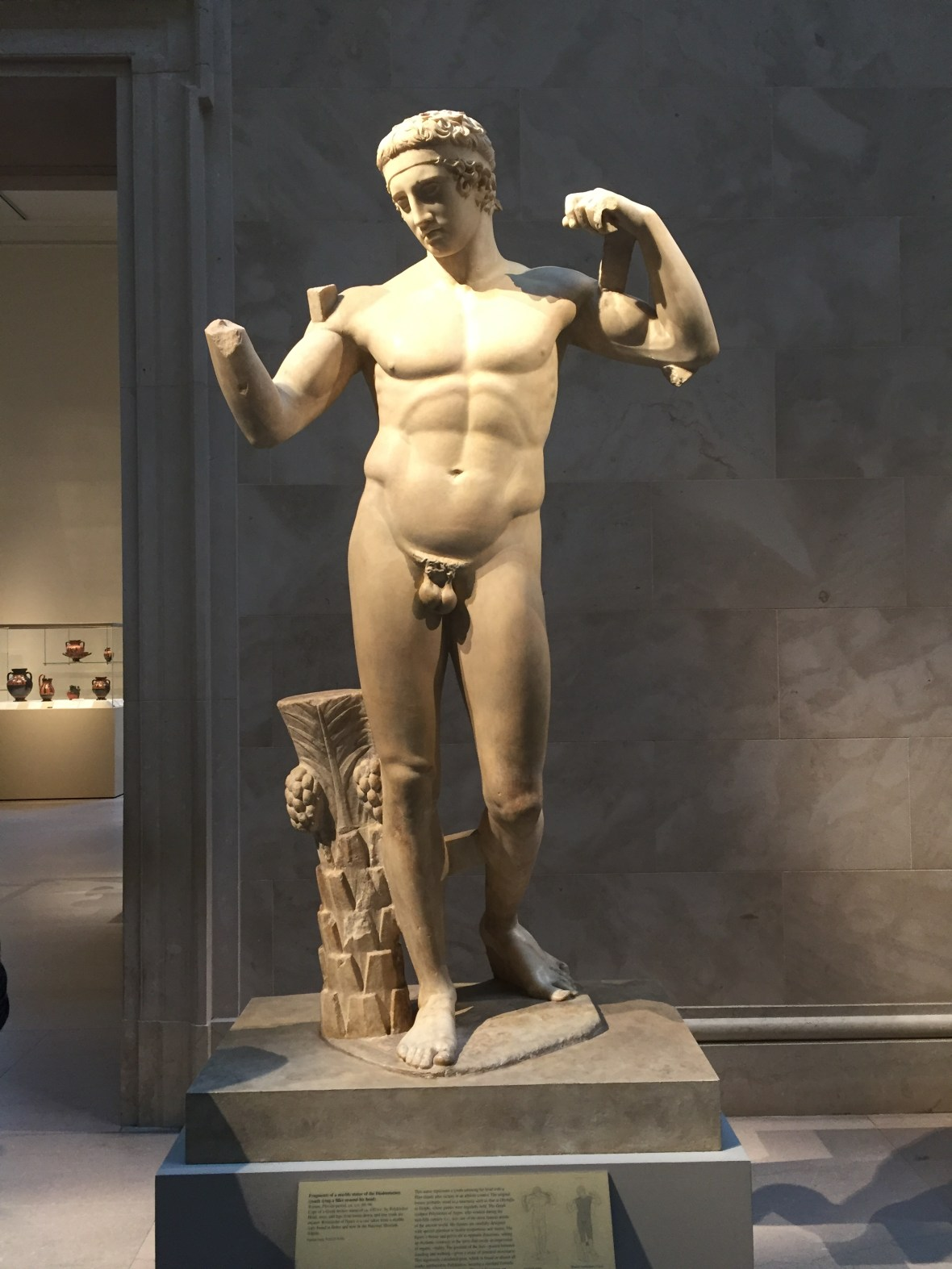 Roman copy of Marble Statue of the Diadoumenos