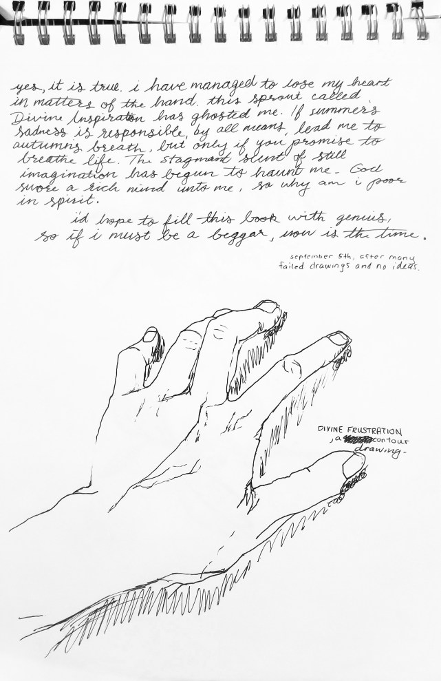 poem and hand