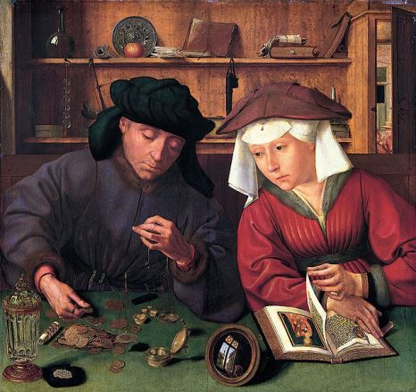 Quentin Matsys, The Moneylender and his Wife, 1514