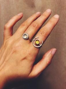 Sibio, Citrine and Moonstone Rings