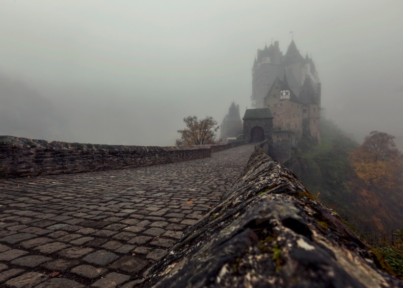 old Burg Eltz in fog