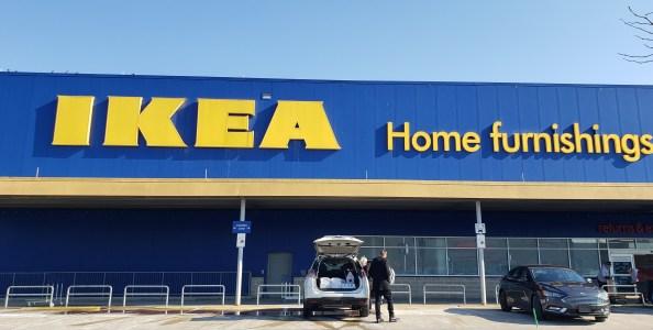 Ikea's Main logo outside
