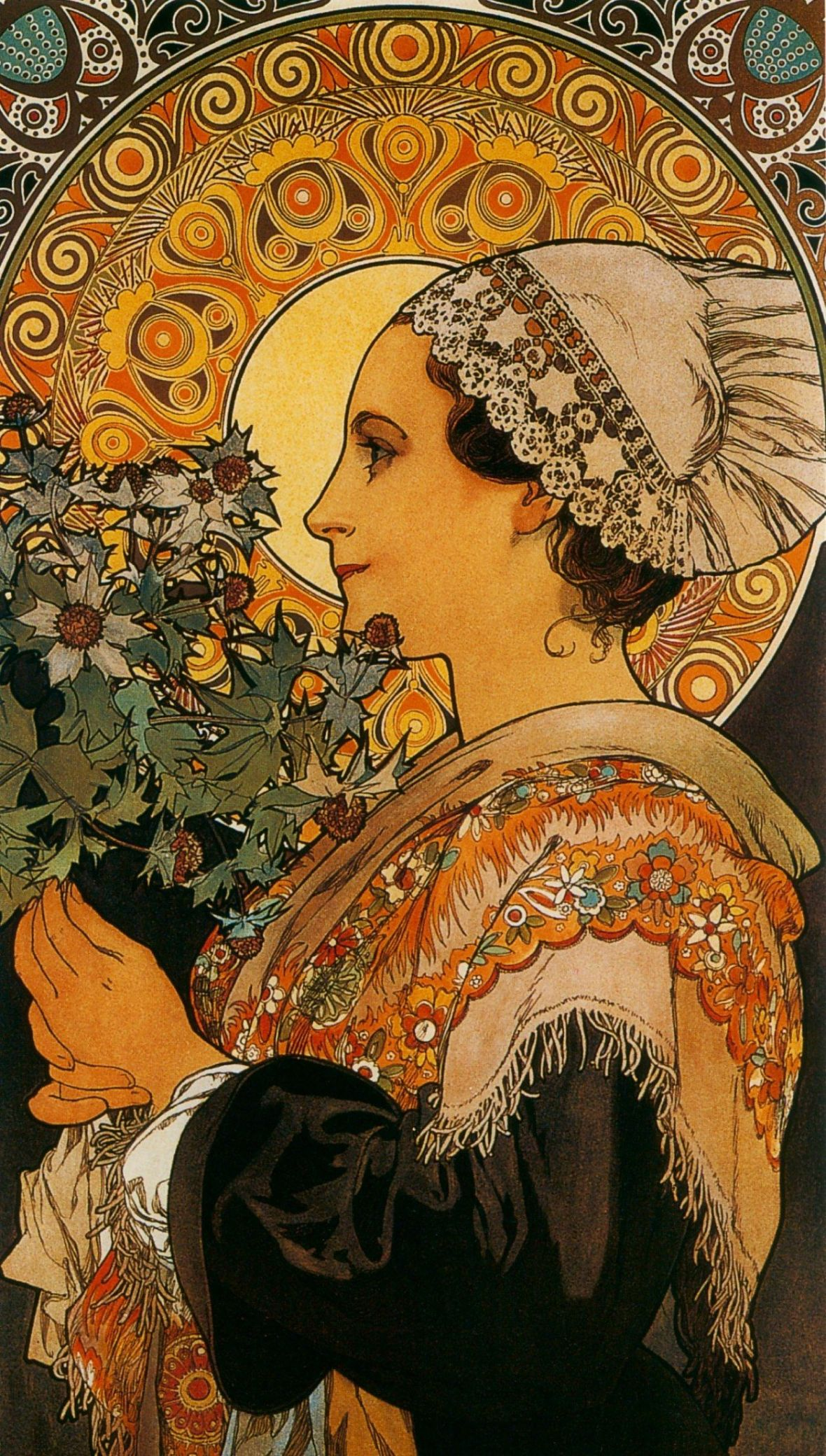 Alphonse Mucha, Thistle From The Sands