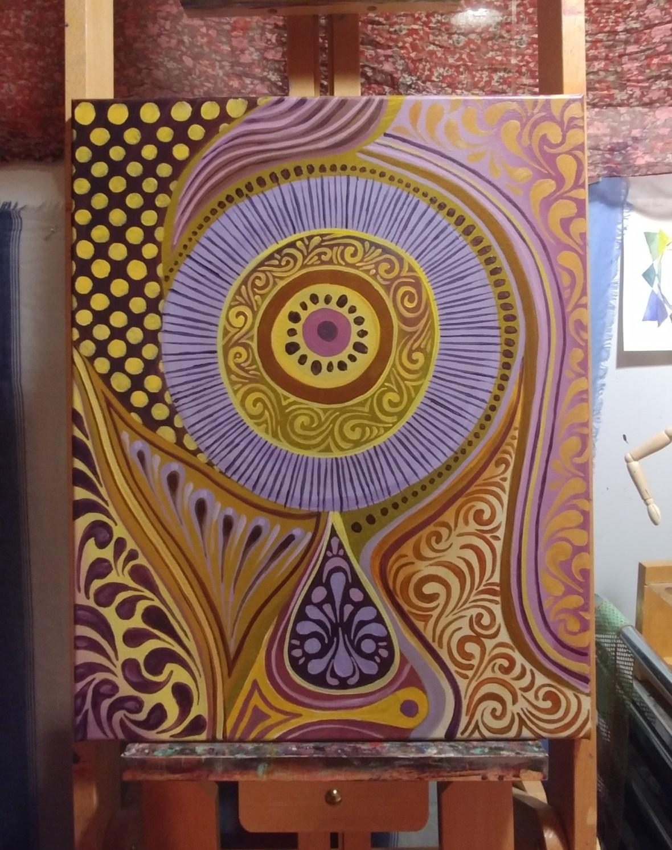 Purple and Yellow Patterns