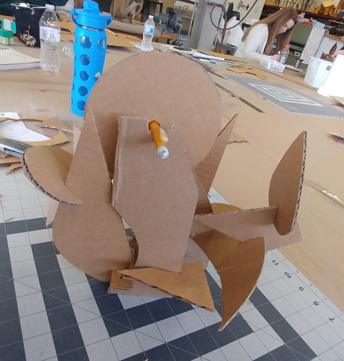 Cardboard Model Back