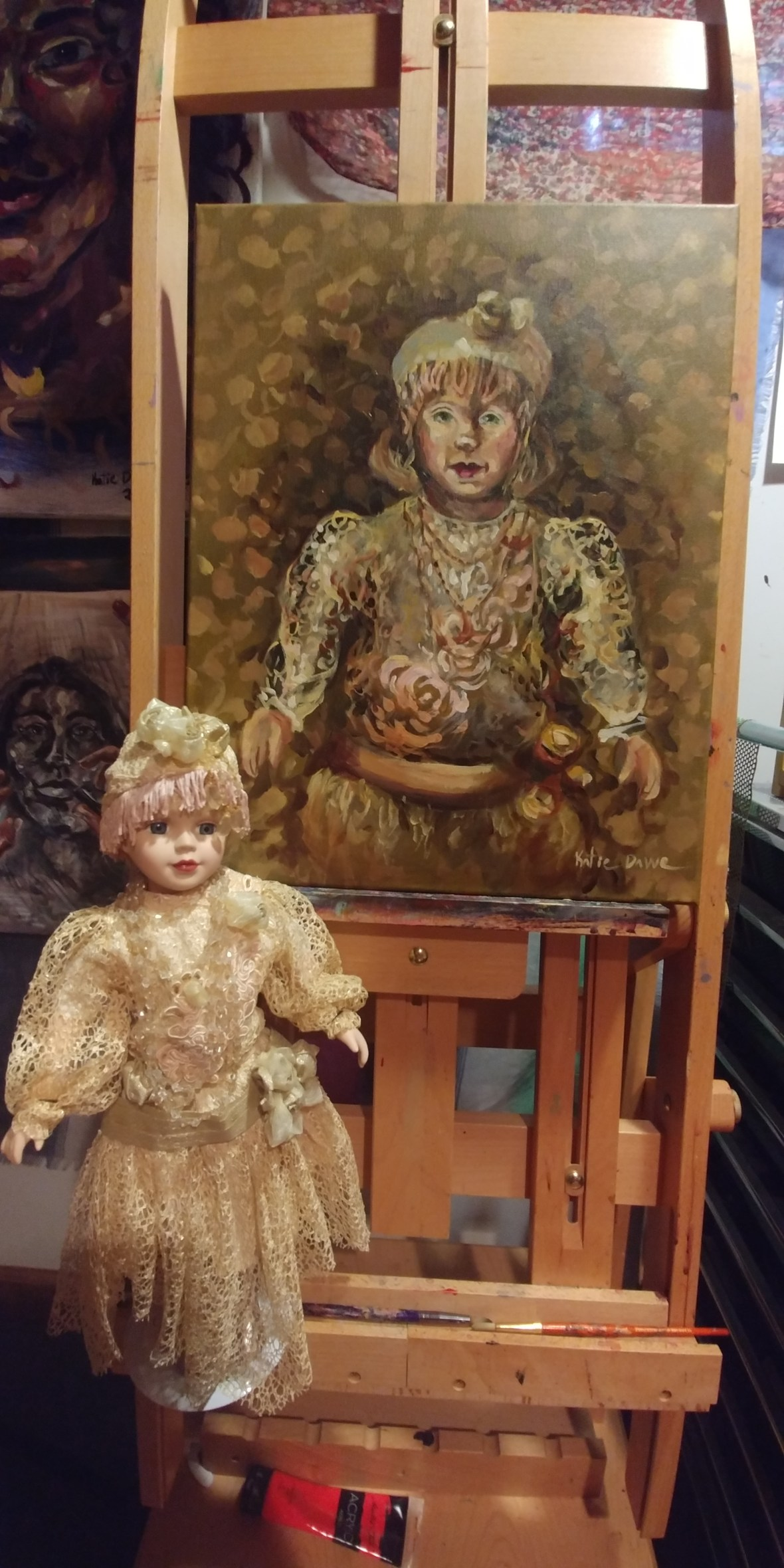 Golden Doll with reference