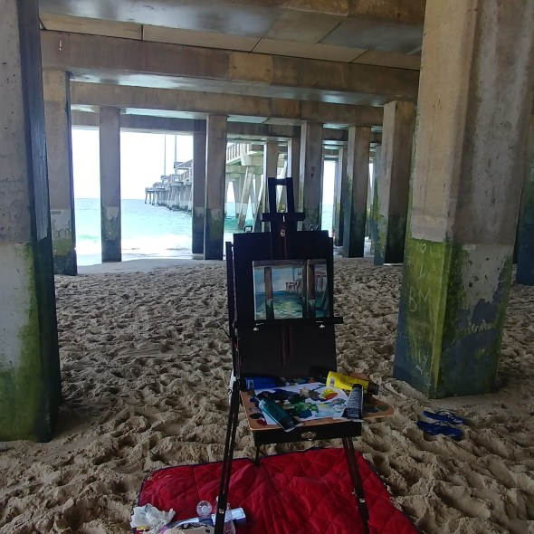 painting at beach 2