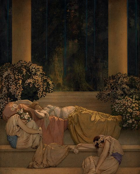 Maxfield_Parrish_-_Sleeping_Beauty_in_the_Wood_(1912)