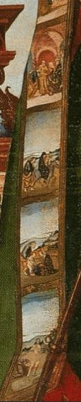Close up of Bishop Vagnucci's cloak