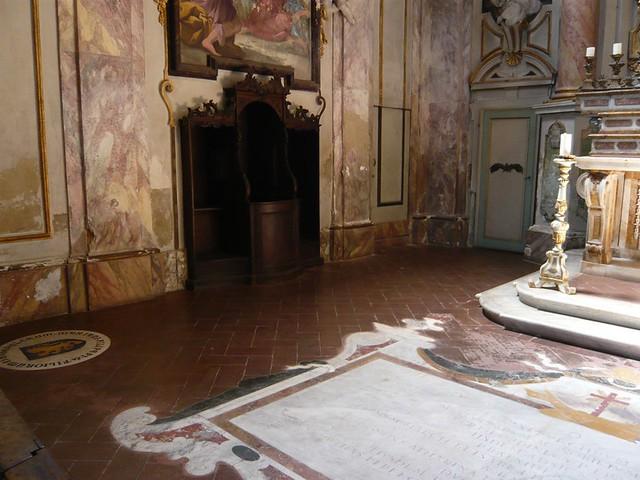 Sandro Botticelli's tomb, San Salvatore in Ognissanti, Florence.