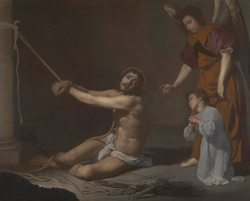 Christ after the Flagellation Contemplated by the Christian Soul created between 1628 and 1629