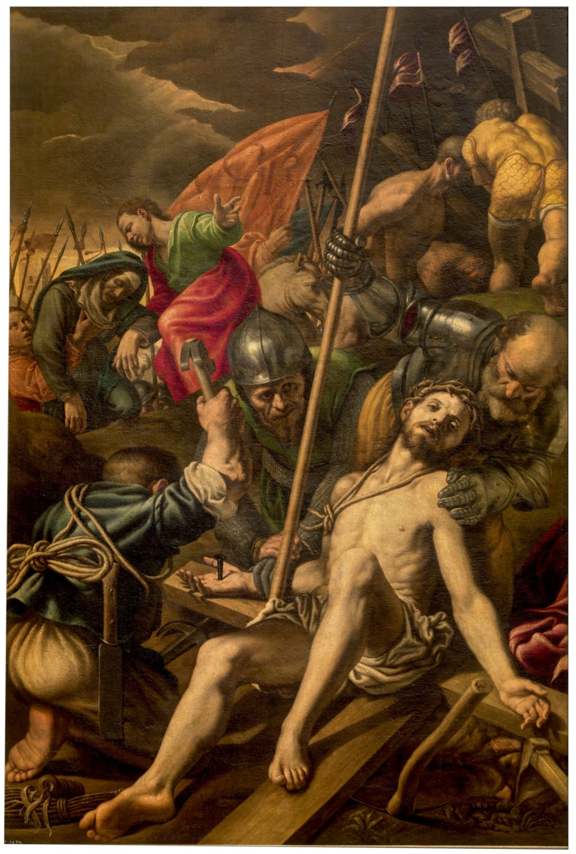 Vincenzo Campi, Christ Nailed to the Cross, 1577