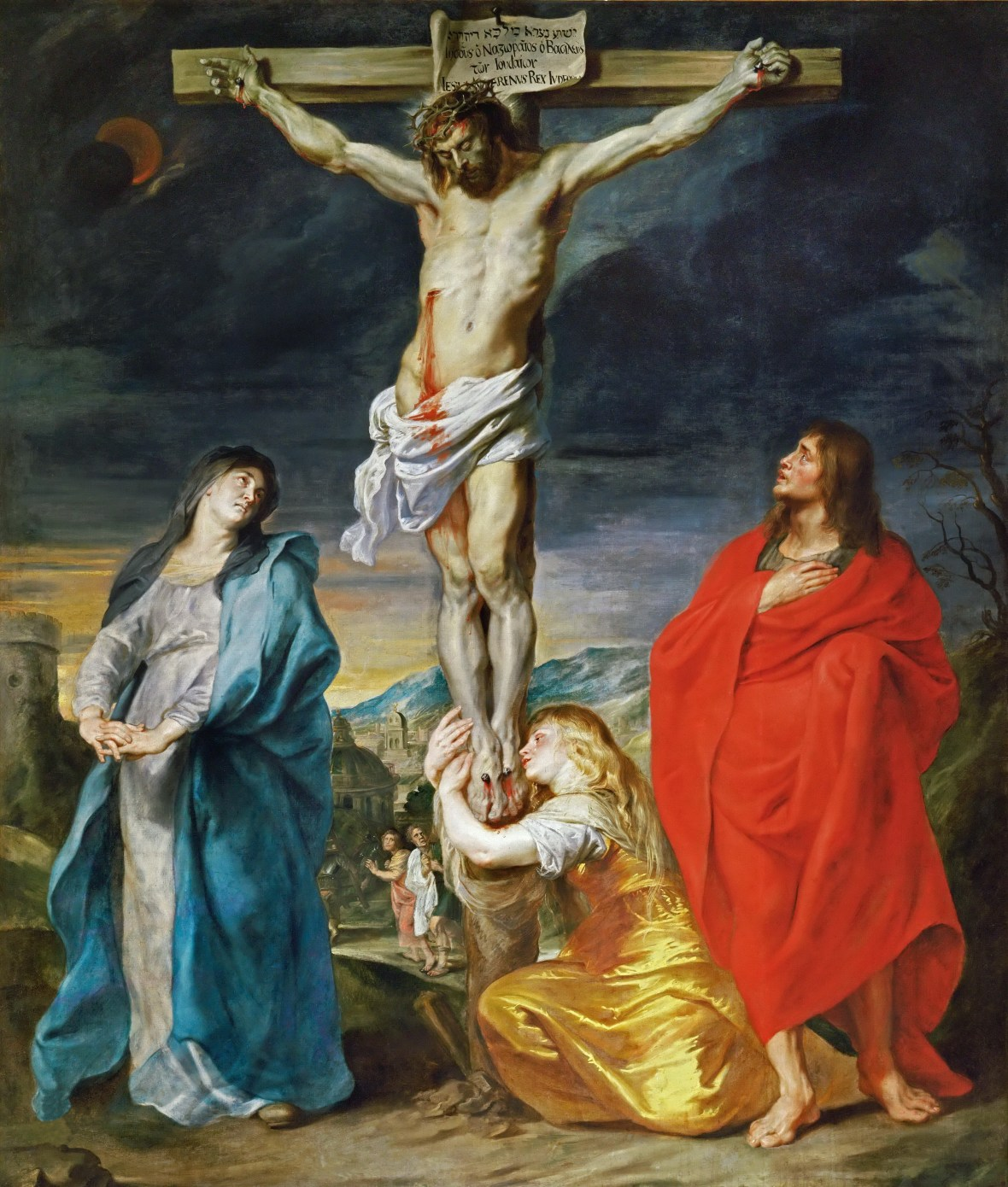 Anthony Van Dyck, Crucifixion with the Virgin Mary, St John and St Mary Magdalene,1619.