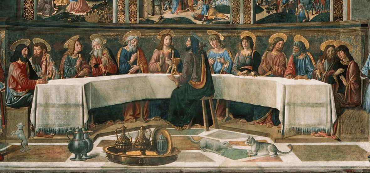 close up of Last Supper, 1481 and 1482