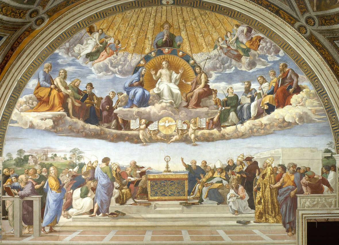 Raphael, Disputation of the Holy Sacrament, around 1509 and 1510