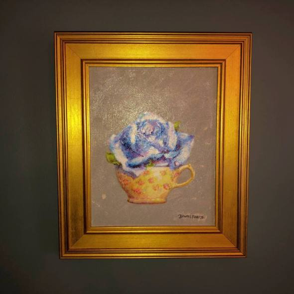 David Frame's Rose in a Teacup