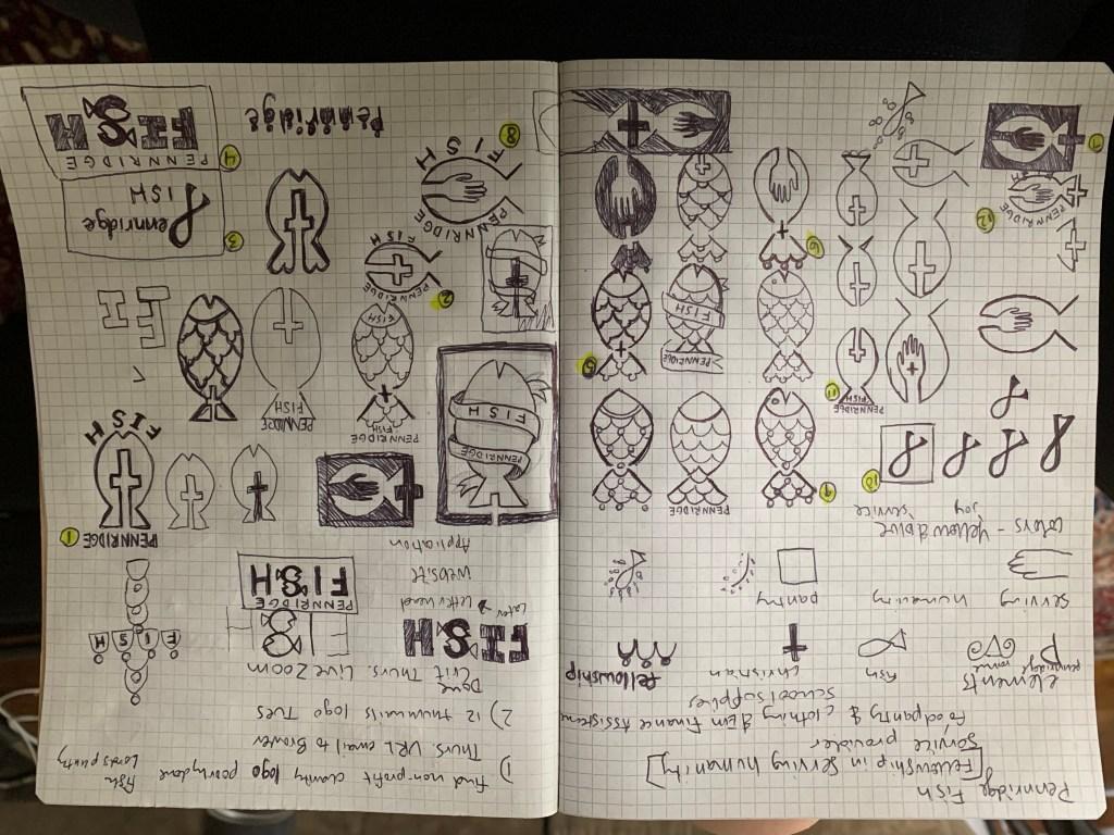 sketchbook designs of potential logos