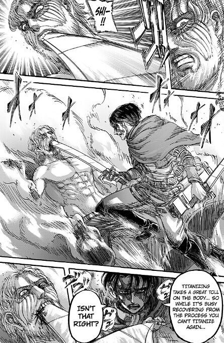 Levi capturing Zeke