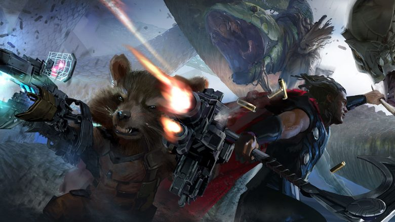 Thor and Rocket Fighting