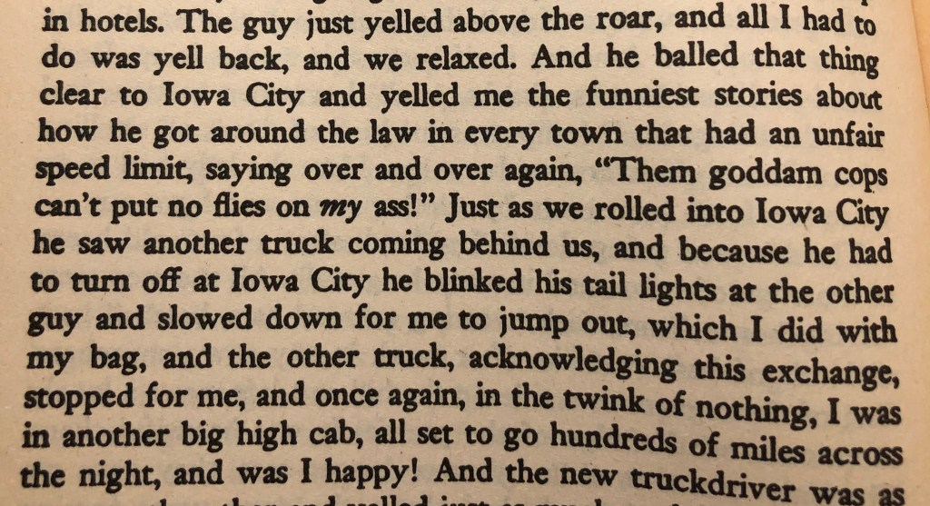 Passage from the book, On The Road