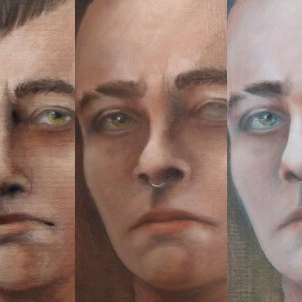 Tumnus Moran Self-Portrait Progress