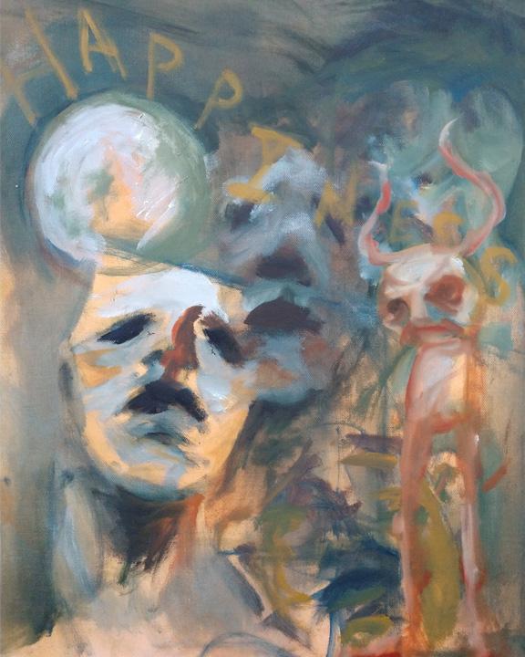 Tumnus Moran Abstract Painting Happiness
