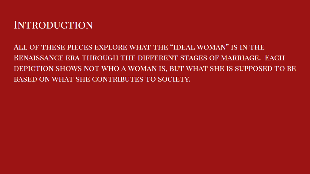 "Introduction to ""What is an Ideal Woman"""