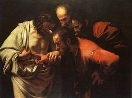 Caravaggio, The Incredulity of Saint Thomas, 1601-1602
