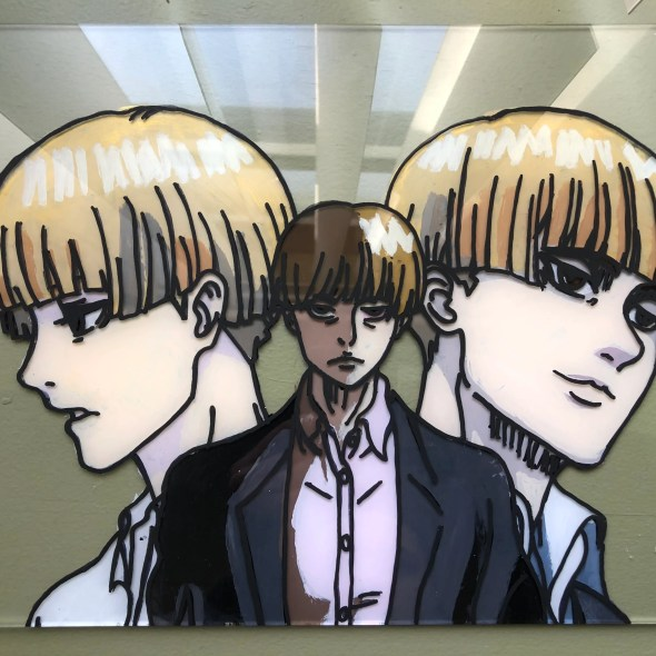 Yelena Attack on Titan Glass Painting