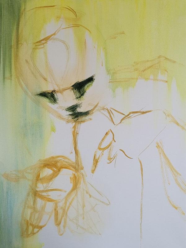 Tumnus Moran Painting for Sculpture Progress 2
