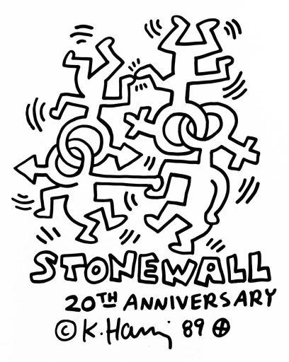 Stonewall 20th Anniversary Poster, Keith Haring
