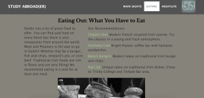 I added links to restaurant recommendations, and a slide show