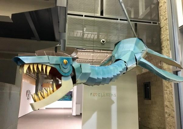 Cardboard sculpture creature