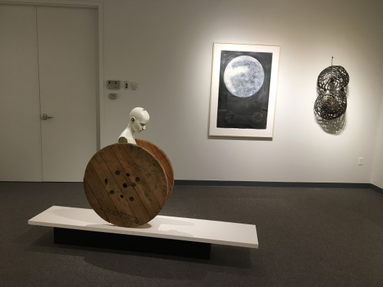 Three modern artworks