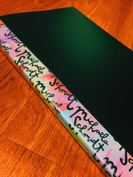 Portfolio with a colorful binding design