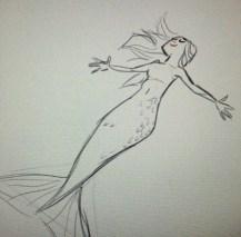 mermaid drawing sketch