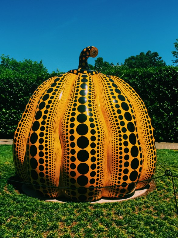 giant pumpkin sculpture