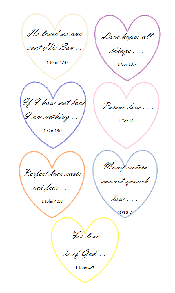 7 Days of Valentines (Love Scriptures)
