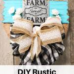 Diy Rustic Farmhouse Front Door Wreath With Buffalo Check