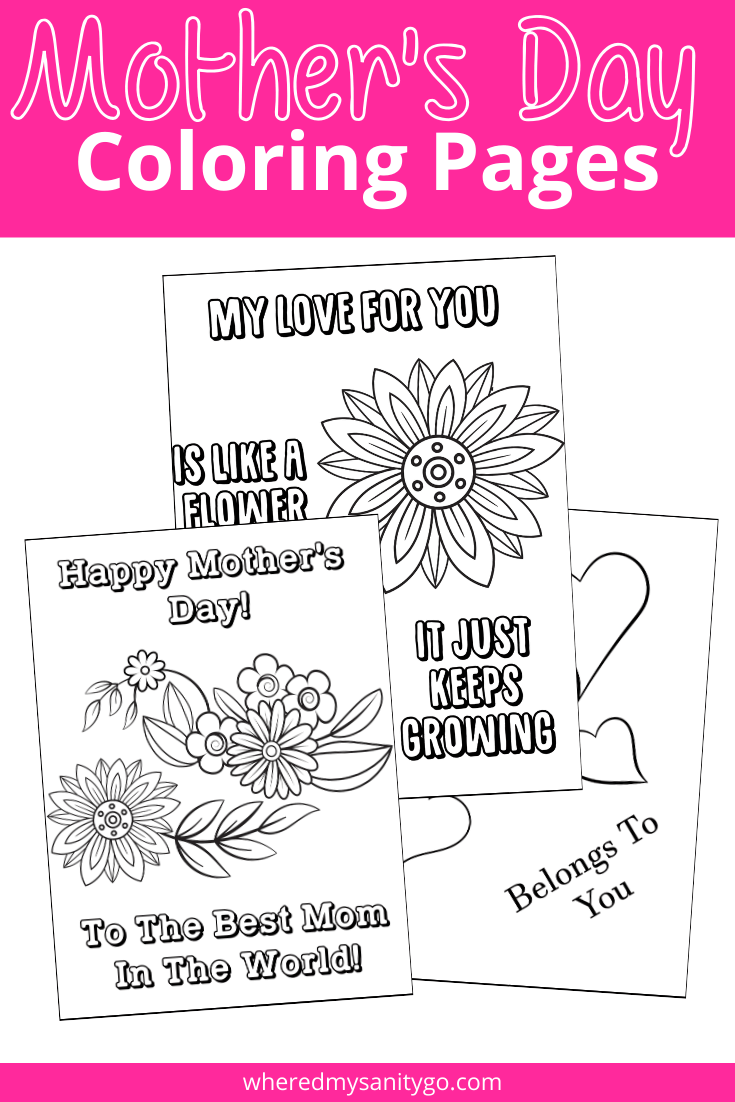 Mother S Day Coloring Pages For Kids A Fun Gift For Mom