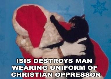 ISIS DESTROYS MAN IN UNIFORM CHRISTIAN OPPRESSOR